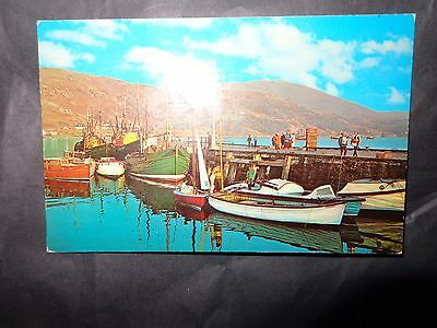 Vintage Colour Postcard Beach View Ullapool Ross & Cromarty Harbour  1972 N/S
