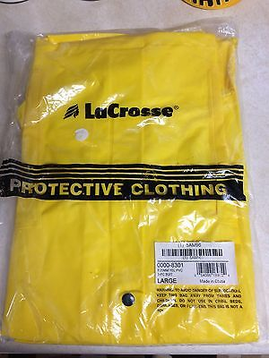 LaCrosse 3 PC Protective yellow Rain Suit Jacket Hood Pants (SIZE L ) new