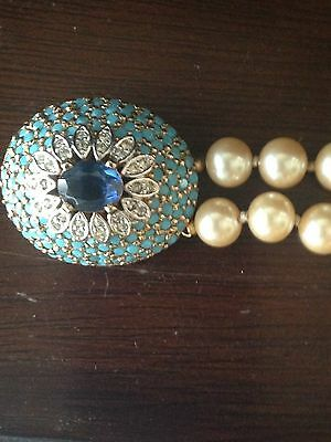 """Panetta Vintage Costume 8mm double strand 23"""" Length with Gorgeous Clasp"""