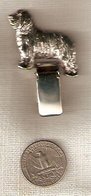 Bearded Collie Beardie Nickel Silver Ring Clip Pin Jewelry LAST ONE!