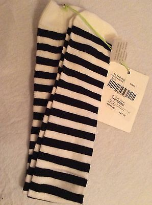Bnwt Miss Grant So Twee Black &white Long Socks Age 8-12 ☃❄️☃❄Tag Price £25
