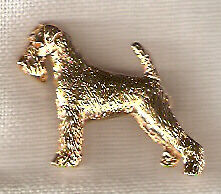 Airedale Terrier Gold Plated Brooch Pin Jewelry