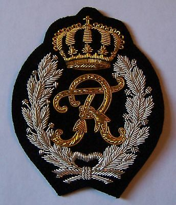 R Letter Family Name Jacket Robe Coat Monogram Initial Cypher Royal Patch Name