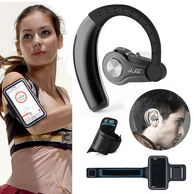 For iPhone 6s 7 8 X Xs XR YUER Stereo Headset Earphone + Sport GYM Armband Case