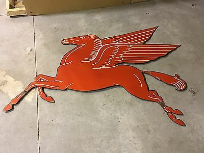 GUARANTEED OLD & ORIGINAL VinTagE MOBIL PEGASUS Sign PORCELAIN Gas Oil Sign WOW!