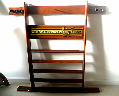 Wall Hung Cue Stand & Score Board-Snooker, Pool, Billiards