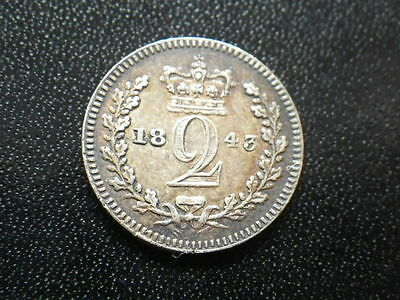 Victoria 1843 Maundy Twopence (aVF)