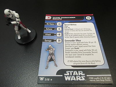 Clone Commander Bacara Star Wars Champions of the Force 21/60 WOTC 2006