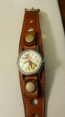 *sale Price* Ingersoll Disney Mickey Mouse Watch - Very Good Condition!! Rare!