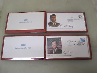 1985 & 1989 Ronald Reagan & George Bush First Day Cover Stamps Albums A5673