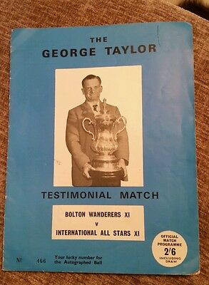 Bolton v International All Stars XI George Taylor Testimonial Programme