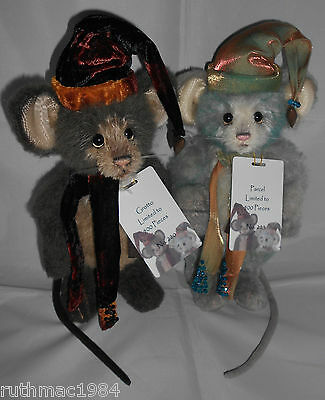 Charlie Bears PARCEL and GROTTO ~ Mice Pair ~ Isabelle Lee 2016 Collection ~ NEW