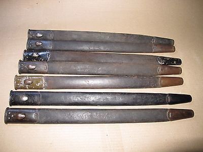 WWI P1907 Enfield BAYONET scabbard SMLE 1907 Early Teardrop Leather Strong