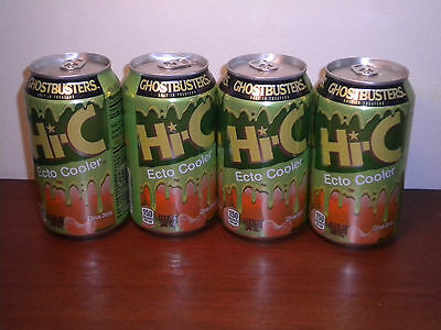 Ghostbusters Hi-C Ecto Cooler-FOUR single cans--LAST CHANCE!!!
