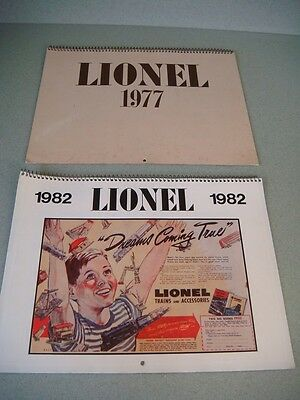 Lionel calendars from 1982 & 1977