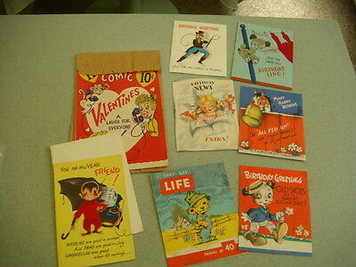 Miscelllaneous vintage greeting cards and Valentines