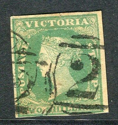 AUSTRALIA  VICTORIA 1850s early classic Imperf QV used 2s. value