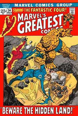 Marvel's Greatest Comics #34 in Near Mint - condition. FREE bag/board