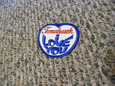 Tomahawk I Love You Wisconsin Patch