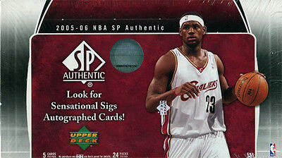 2005-06 Upper Deck SP Authentic Basketball Hobby Box