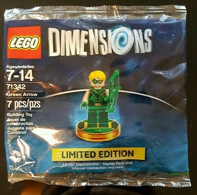Lego Dimensions Limited Edition Green Arrow MiniFigure SDCC 2016 Brand New 71342