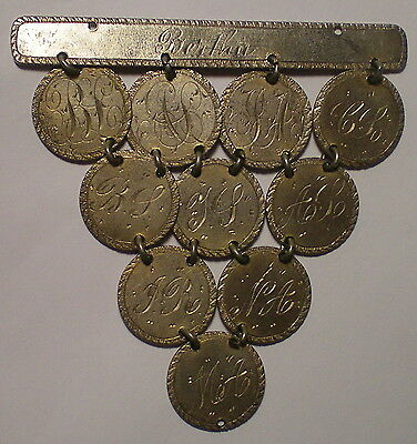10 Pc. Seated Liberty Dime Love Tokens