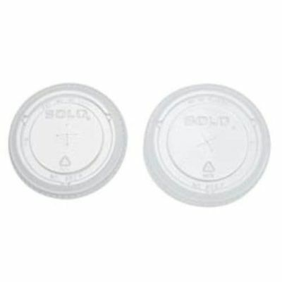 SOLO 626TS-0090 Clear PETE Straw Slot Lid for 16-oz. Plastic Cold Cup, 1000/Case