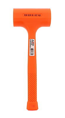 ABN Dead Blow Hammer 4 lb Pound Mallet with Non-Marring Rubber Coating