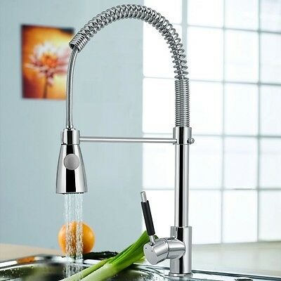 Kitchen Swivel Pull Out Spout Single Handle Sink Faucet Spray Mixer Tap Chrome