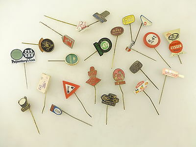 Lot of 23 Vintage Advertising Lapel Stick Pins Food Linen Coffee Cheese Other