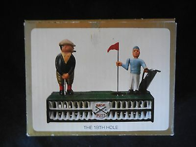 "Designs Inc ""The 19th Hole"" cast iron bank Golfing"
