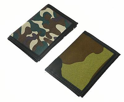 Camouflage Design Material Wallet Purse Boy Man with Hook and Loop Fastening