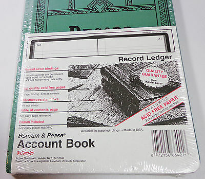 Boorum & Pease Account Book Ledger RECORD Ruling Lined Numbered Pages NO COLUMNS