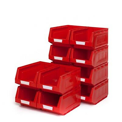 1 x Red Open Front Storage Hard Plastic Stackable Containers Bin No3 Medium