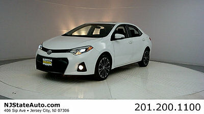 2014 Toyota Corolla 4dr Sedan CVT S 14 Toyota Corolla S Carfax certified 1-owner Leather Sunroof alloy wheels used
