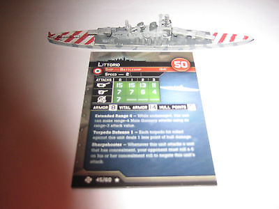 AXIS & ALLIES WAR AT SEA TASK FORCE Littorio x1
