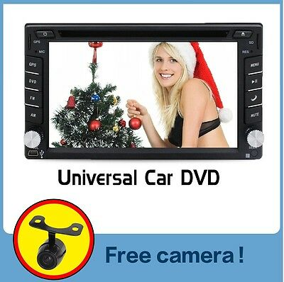 Autoradio 6.2 Navi Gps Navigation Touchscreen Bildschirm Dvd Cd Usb Sd Mp3 2Din