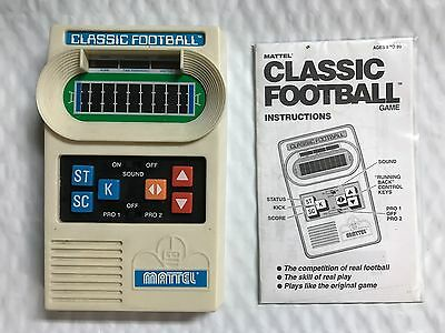 Vintage 2000 Mattel Classic Football Electronic Handheld Game Tested and Works
