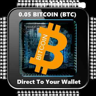0.05 Bitcoin (BTC) - Mined Bitcoin - Direct To Your Wallet - By CryptoCoinShop