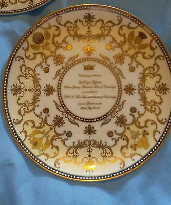 ROYAL WORCESTER ROYAL BABY 'PRINCE GEORGE OF CAMBRIDGE' PLATE -new (BIRTH 2013)
