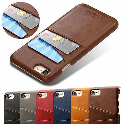 Card Slot Holder Leather Case Back Cover For iPhone 11 Pro XS Max XR 6s 7 8 Plus