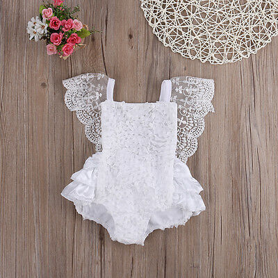 Lace White Baby Girl Toddler Romper Playsuit Onesie