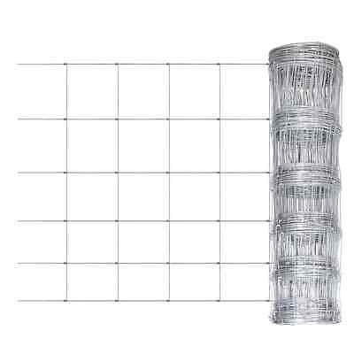 S# New 0.8x50m Galvanized Chain Mesh Fence Post Set Garden Fencing Wire Pet Chic