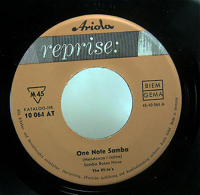 """THE HI-LO's """"One Note Samba"""" NM Archiv D 7"""" REPRISE Ariola 45 EASY Jazz"""