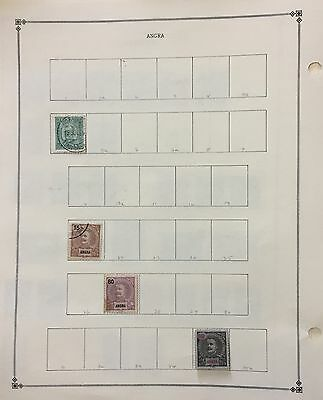 Angra 1892/97 Lot Of 4 Stamps Mlh* & Used On 1 Page Album