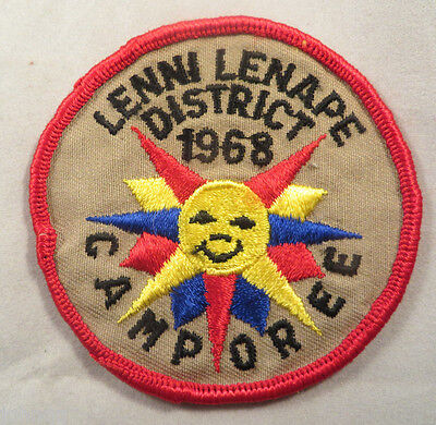 Boy Scout BSA Embroidered Patch - 1968 Lenni Lenare District Camporee