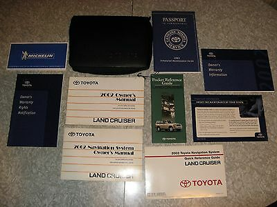 2002 Toyota Land Cruiser Complete Owner's Manual Set And Case Oem Excellent