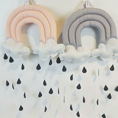 Decoration Toy Raining Cloud Water Drop Baby Bed Hanging Decor Boy Baby's Room