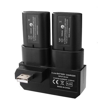 Dual Rechargeable Battery Pack Kit with Charging Dock for Xbox One Gamepad BC575
