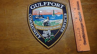 Gulfport Mississippi Police Community Service   Obsolete  Patch Bx 11 #35